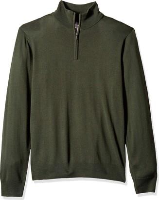Goodthreads Amazon Brand Men's Lightweight Merino Wool Quarter Zip Sweater