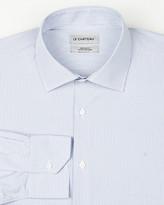 Le Château Stripe Cotton Blend Classic Fit Shirt