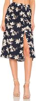 J.o.a. Flower Print Midi Skirt