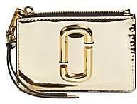 Marc Jacobs Women's The Snapshot Zip Metallic Card Case