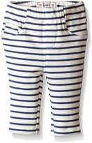 Levi's Baby Girls Addison French Terry Pull on Legging, True Navy/Star White, 6/9 Months