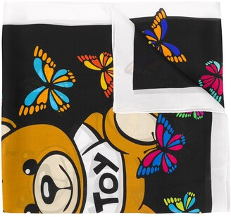 Moschino butterfly print silk scarf