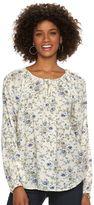 Chaps Women's Floral Raglan Peasant Top