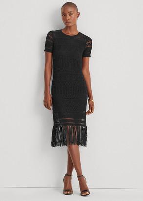 Ralph Lauren Pointelle Short-Sleeve Dress