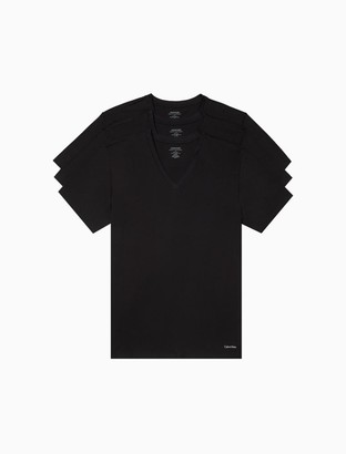 Calvin Klein Cotton Classic Fit 3-Pack V-Neck T-Shirt
