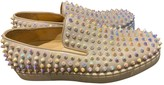 Christian Louboutin Pik Boat White Leather Trainers