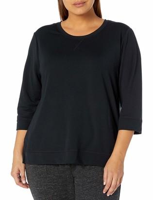 Karen Neuburger Women's Plus Size Top 3/4 Sleeve Shirt Pj
