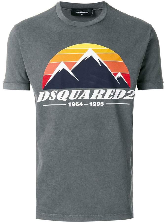 DSQUARED2 mountain peak print T-shirt
