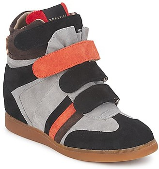 Serafini MANHATTAN COLOR BLOCK women's Shoes (High-top Trainers) in Grey