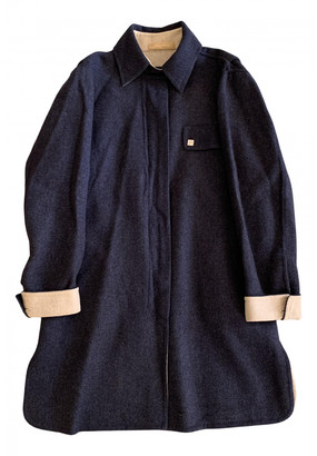 Emilio Pucci Blue Cashmere Coats