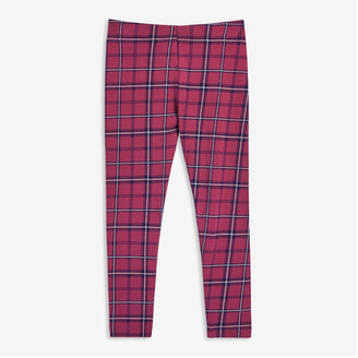 Joe Fresh Toddler Girls' Plaid Legging, Light Fuchsia (Size 5)