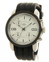 Croton Men's Black Rubber Chronograph Casual Watch SP399190BSDW