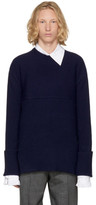 Wooyoungmi Navy Crewneck Sweater