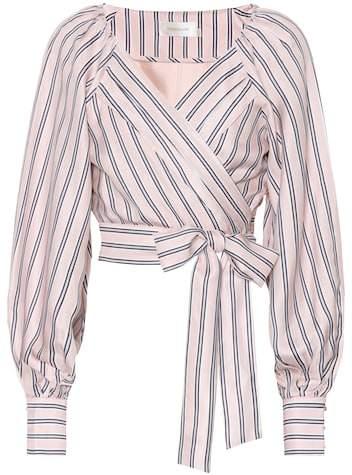 Zimmermann Radiate silk-blend wrap blouse