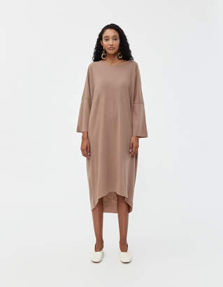 Black Crane Long Bud Dress in Camel