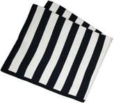 Lucky Jade Striped Ivory Blanket