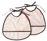 Done by Deer Powder 2-pack Happy Dots Tiny Bib