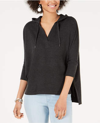 Style&Co. Style & Co Hoodie 3/4-Sleeve Top