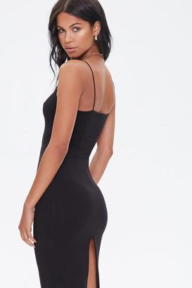 Forever 21 Ribbed Slit Midi Dress