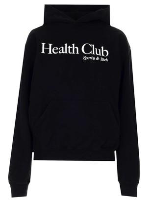 Sporty & Rich Health Club Print Hoodie