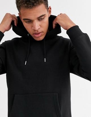 Jack and Jones Essentials oversized hoodie in black