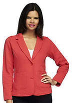 Isaac Mizrahi Live! Quilted Knit Blazer