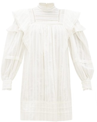 Etoile Isabel Marant Patsy Crochet-insert Cotton-voile Mini Dress - Womens - White