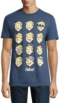 Novelty T-Shirts Fallout Faces Short-Sleeve Graphic T-Shirt