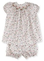 Luli & Me Floral Bishop Dress w/ Bloomers, Size 12-24 Months