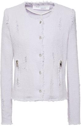 IRO Agnette Distressed Cotton-blend Boucle-tweed Jacket