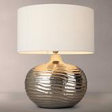 John Lewis Ise Waves Metal Table Lamp, Nickel