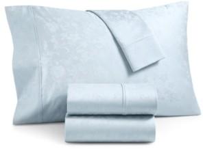 Aq Textiles Bergen House Woven Floral Vine Cotton 1000-Thread Count 4-Pc. California King Sheet Set Bedding