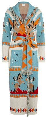 Hayley Menzies Jacquard Sunrise Rodeo Long Cardigan