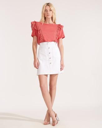 Veronica Beard Deena Patch-Pocket Skirt