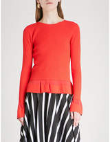 Diane von Furstenberg Flared ribbed-knit jumper