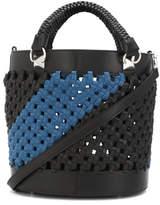 Sonia Rykiel Braided Bucket Shoulder Bag - Blue