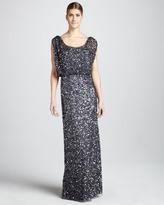 Aidan Mattox Beaded Sleeveless Gown