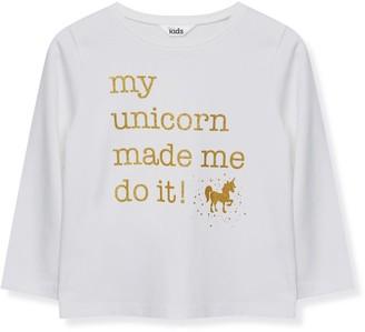 M&Co Slogan unicorn t-shirt (9mths-5yrs)