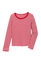Joe Fresh Stripe Ribbed Tee (Little & Big Girls)