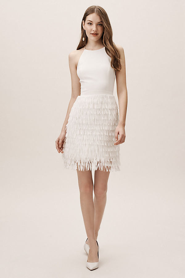 Anthropologie Promenade Dress By in White Size 2