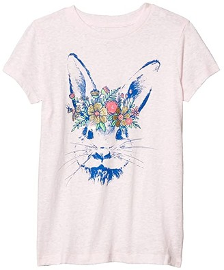crewcuts by J.Crew Short Sleeve Bunny Crown Tee (Toddler/Little Kids/Big Kids) (Bunny) Girl's Clothing
