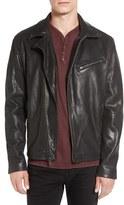 John Varvatos Men's Leather Moto Jacket