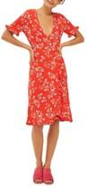 Topshop Women's Disty Ruffle Wrap Dress