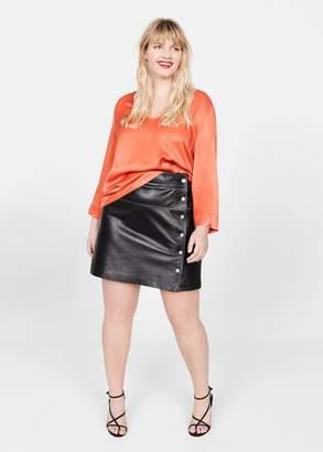 MANGO V-back blouse