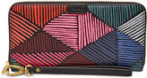 Fossil Emma RFID Large Zip Clutch Wallet