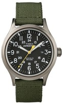 Timex Men's Expedition® Scout Watch with Nylon Strap - Gray/Black/Green T49961JT