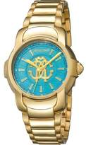 Roberto Cavalli Womens Gold Watch With Turquiose Dial.