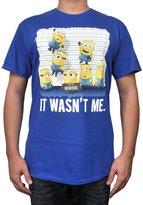 Hybrid Despicable Me Mens T-Shirt Minion Wasn't Me Print