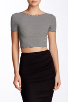 Soprano Cross Front Short Sleeve Crop Top