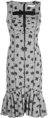 Jason Wu Collection Floral Check Print Dress